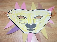 Lion Mask Paper Craft