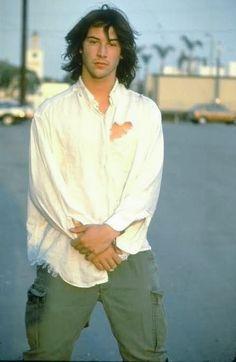 Keanu Reeves Young, Keanu Charles Reeves, Keanu Reaves, Ted, Barista, Pretty People, Movie Stars, Actors & Actresses, Beautiful Men