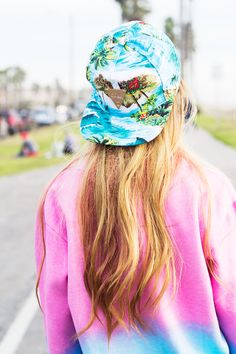 Sweater ▲ colors ▲ bright ▲ snapback ▲ summer ▲ outfit ▲ love ▲ trend ▲ neon ▲ beach ▲