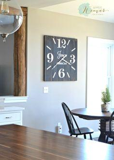 Large Square Wood Clock {customizable}