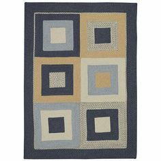 Tweed Square Deep Blue Rug Rug Size: Concentric 3' x 5' by Capel Rugs. $194.00. 0219QS03000500475 Rug Size: Concentric 3' x 5' Features: -Technique: Braid.-Origin: USA.-36'' concentric square.-3' x 5' concentric.-5' x 7' concentric.-7' x 9' concentric.-9' x 11' concentric. Construction: -Construction: Machine made. Color/Finish: -Color: Deep Blue. Specifications: -Material: 35pct Nylon, 25pct wool, 15pct polyester, 10pct rayon, 10pct acrylic, 5pct other fibers. Dimensions...
