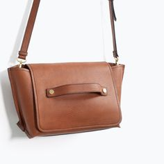 Image 5 of TOP STITCHED MESSENGER BAG from Zara
