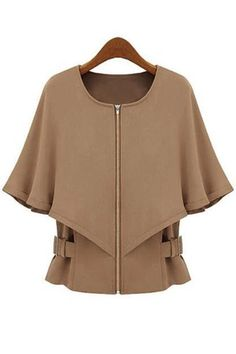 Chic Cape Collarless Jacket 52.90 Got to have at that price