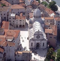 Šibenik, Croatia. One of the most beautiful places in the country. In the center of Šibenik lies St. Jacobs (St. James) cathedral, the most valuable object in Šibeniks architectural heritage, which was added to UNESCO list of world heritage sights in 2001.