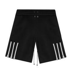 Zipper Stripe Shorts