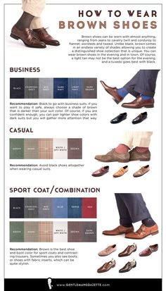 How to Wear Brown Shoes & Boots for Men — Gentleman's Gazette. Business, casual and sport style.