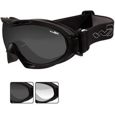 39f6b9d31428 The Wiley X R-8051 Nerve Black Tactical Eyewear Goggles were designed for  working military