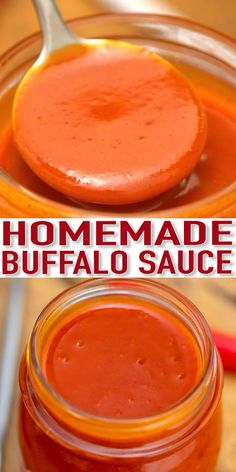 Buffalo Sauce Recipe [Video] - Sweet and Savory Meals - - Homemade Buffalo Sauce is a bolder and fancier version of a hot sauce easily made in your own kitchen. It is rich and buttery, and perfect on pretty much anything! Homemade Buffalo Sauce, Homemade Sauce, Homemade Ketchup, Sweet Buffalo Sauce Recipe, Chicken Wing Hot Sauce Recipe, Sweet Pizza Sauce Recipe, Recipes With Buffalo Sauce, Buffalo Chicken Sauce, Sushi Recipes
