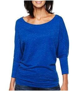 Blue, loose, flowy.    http://www.jcpenney.com/dotcom/women/brands/jcp/jcp%25e2%2584%25a2-dolman-sleeve-high-low-tee/prod.jump?ppId=pp5001490644=dolman=null=null=SearchResults