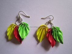 Handmade Jewelry - Paper Leaves Earrings (4) by fah2305, via Flickr