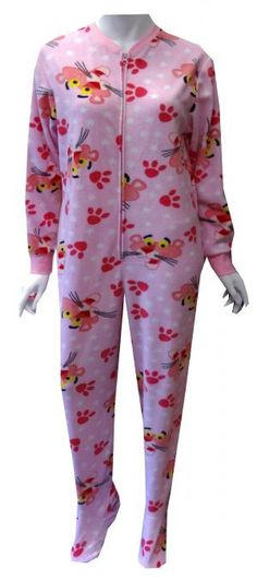 0d79572c30 Pink panther footed pjs Onesie Pajamas Women