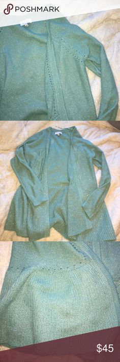 Elle cardigan Never worn! Peplum like bottom. Sparkly material Elle Sweaters Cardigans
