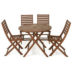 Wooden Patio Set 4 Seater Price Was 100 00 Now
