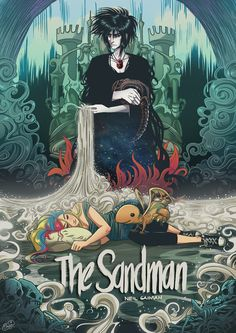 The Sandman by Eva Cabrera - Neil Gaiman Neil Gaiman, Fanart, Comic Books Art, Comic Art, George Orwell, Dc Comics, Vertigo Comics, Graphic Novel Art, Graphic Novels