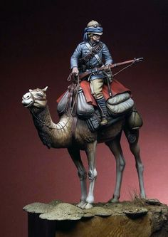 """British camel corps, c. 1880. """"Tommy Atkins, mounted on Too Late by Verbosity."""""""