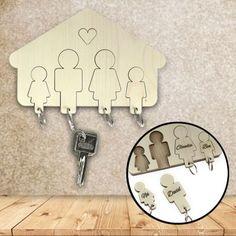 Schluss mit dem morgendlichen Schlüsselsuchen für Dich und Deine Familie!  Mit diesem Schlüssel Brett hat jeder Anhänger seinen angestammten Platz. via: www.monsterzeug.de