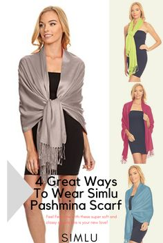 $12.99 Simlu Wrap Scarf Pashmina Shawls and Wraps, Silky Wedding Scarf Stole for Women