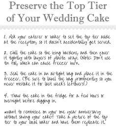 saving your wedding cake
