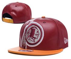 Washington Redskins ALl Leather Snapback Hats 5ef880ec5b1