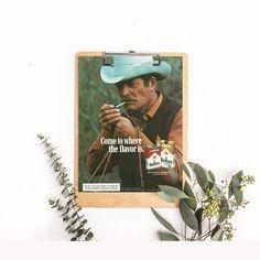 Retro Cowboy Ad  Smoking Cowboy  Marlboro Cigarettes  Lasso Cowboy  Wild West Ephemera  Out West Scene  Marlboro Country Advertising by RetroPapers