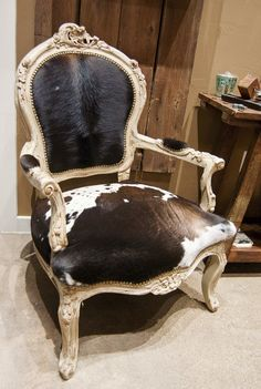 French Style Cow Hide Chair — Melissa Benge Collection