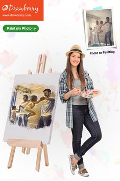 Custom picture painting is easy with Drawberry! Choose an artist & order painting from photo in any size or style. A painted portrait makes a great gift! Family Painting, Cherished Memories, Pictures To Paint, Precious Moments, Best Artist, Love Art, Preserve, Family Photos, In This Moment