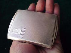 Art Deco silver case 80.2 grams Birmingham hallmark 1938 Joseph Gloster Ltd
