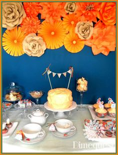 Floral tea party! See more party planning ideas at CatchMyParty.com!