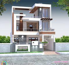 5 BHK 3000 square feet modern home (Kerala home design) Modern Small House Design, Modern Exterior House Designs, Modern House Facades, Classic House Design, Modern Architecture House, Indian House Exterior Design, Amazing Architecture, Classic House Exterior, Modern Home Exteriors