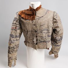 Agnes Richter's jacket, made from hospital uniforms and embroidered with largely indecipherable words and phrases. Photograph: Prinzhorn Col...