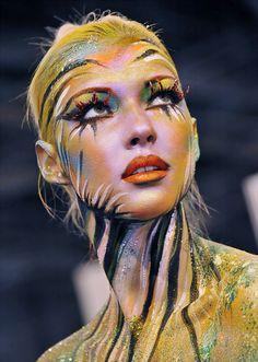 Portrait. Cosmetic art.