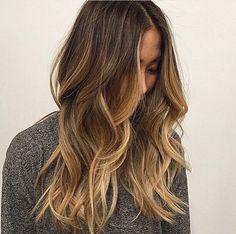 Long highlight brown hair