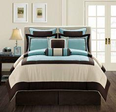 aqua brown bedroom ideas