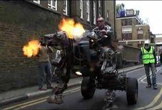 Robotic Hell-Dog Motorcycle