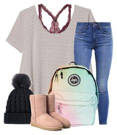 """He smiled and all I could think was """"Oh sh*t"""" by dejonggirls on Polyvore featuring Olive + Oak, Levi's and UGG"""