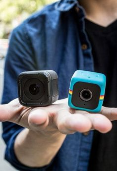 The GoPro Hero 4 Session and the Polaroid Cube action camera.
