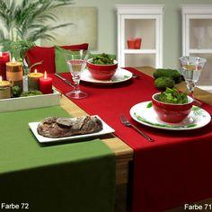 Sander Tischläufer LOFT TREND mit Fleckschutz 150x250 69 EUR, 60 Grad, Bügeleisen Stufe 2, nicht in Trockner, Flecken mit Küchenpapier aufsaugen
