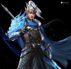 Kai Fine Art is an art website, shows painting and illustration works all over the world. Fantasy Warrior, Fantasy Art Men, Fantasy Artwork, Special Characters, Fantasy Characters, Samurai Warrior Tattoo, Dragon Project, Warriors Wallpaper, Royal Art