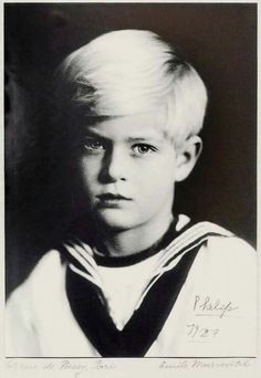 Prince Philip in 1927, aged 6