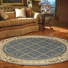 Ashton House Circular Rugs by Nourison AS03 in Black - Free UK Delivery - The Rug Seller