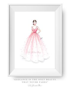 Fashion illustration print Fashion art by ThePaintedShoeArt