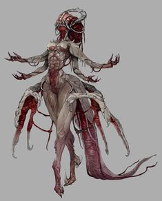 process in 2019 monstros, arte com desen Fantasy Demon, Fantasy Kunst, Fantasy Monster, Dark Fantasy Art, Fantasy Warrior, Dream Fantasy, Female Monster, Warrior Angel, Demon Art