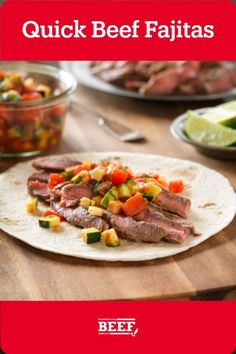 Marinate Flank Steak overnight in lime juice and garlic, then chop up a zesty pico de gallo while the beef is on the grill. Be sure to slice steak against the grain for max tenderness. Easy Campfire Meals, Campfire Recipes, Campfire Food, My Favorite Food, Favorite Recipes, Marinated Flank Steak, Beef Fajitas, Lime Juice, Garlic