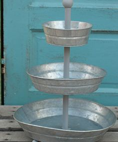 Galvanized Metal Urn Planter - Set of Three | Daily deals for moms, babies and kids