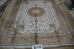 9'x12' Handmade Hand-knotted 450 kpsi Silk Oriental Persian Tabriz Rug B330