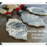 Winter Forest Ornament Tutorial by Heather Powers Polymer Clay Projects, Polymer Clay Beads, Polymer Clay Ornaments, Beaded Ornaments, Polymer Clay Christmas, Ornament Tutorial, Paperclay, Clay Creations, Holiday Crafts