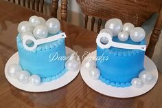 Bubble themed cake smashers. Gelatin bubbles
