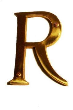 "Brass Accents I07-L91R0-606 Satin Brass Address Letters Traditional 4"" Letter R I07-L91R0 by Brass Accents. $11.78. Traditional 4"" Letter R"