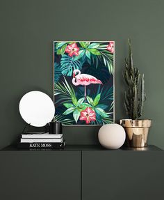 Flamingo in Paradise Poster in the group Posters & Prints / Sizes / 50x70cm | 19,7x27,6 at Desenio AB (8779)