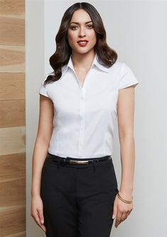 Ladies Cap Sleeve Metro Shirt - S119LN - Uniform Description